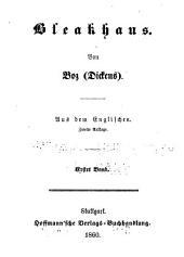 Bleakhaus von Boz(Dickens) aus dem Englischen: Band 6