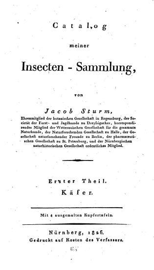 Catalog meiner Insecten Sammlung PDF