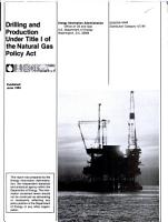Drilling and Production Under Title I of the Natural Gas Policy Act PDF