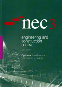 NEC3 Engineering and Construction Contract  ECC   Option A PDF