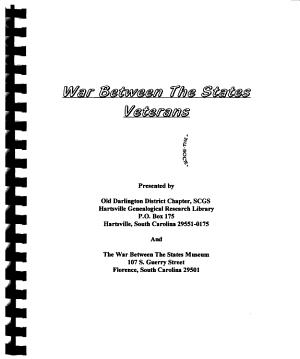 War Between the States Veterans PDF