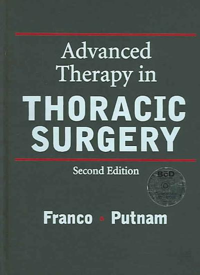 Advanced Therapy in Thoracic Surgery PDF