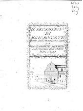 Il decameron di M. Gio. Boccaccio tratto dall' ottimo testo scritto da Fran.co d'Amaretto Mannelli sull' originale dell' autore