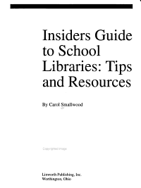 Insider s Guide to School Libraries PDF