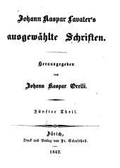 Johann Kaspar Lavater's ausgewählte Schriften: Band 3