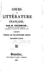 Cours de littérature française: Volume3