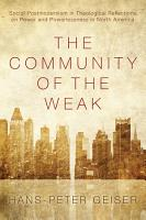 The Community of the Weak PDF