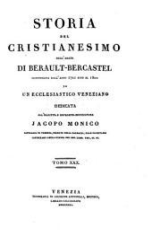 Storia del cristianesimo continuata dall'anno 1721 sino al 1800 da un ecclesiastico veneziano dell'abate di Berault-Bercastel: Volume 30