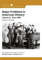 Major Problems in American History PDF