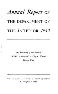 Annual Report of the Department of the Interior PDF