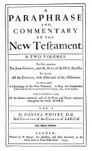 A Paraphrase and Commentary on the New Testament     By D  Whitby  The Third Edition   Additional Annotations to the New Testament  with Seven Discourses  and an Appendix Entituled Examen Variantium Lectionum J  Millii     in Novum Testamentum  By D  Whitby    PDF