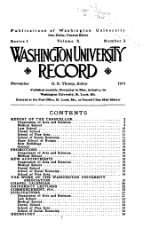 Washington University Record: Volumes 10-11