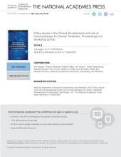 Policy Issues in the Clinical Development and Use of Immunotherapy for Cancer Treatment PDF