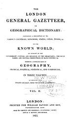 The London General Gazetteer, Or Geographical Dictionary