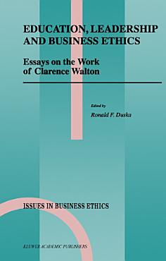 Education  Leadership and Business Ethics PDF
