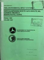 NH Route 16 and US Route 302 Improvements  Conway Project  Carroll County PDF