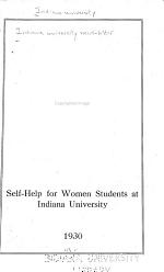Self-help for Women Students at Indiana University ...