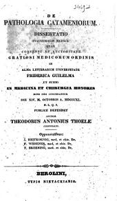 De pathologia catameniorum