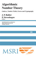 Algorithmic Number Theory PDF