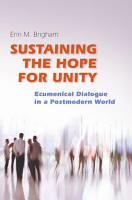 Sustaining the Hope for Unity PDF