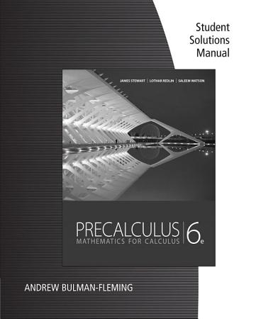 Student Solutions Manual for Stewart Redlin Watson s Precalculus  Mathematics for Calculus  6th PDF