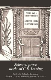Selected Prose Works of G.E. Lessing