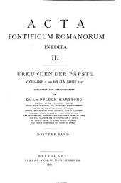 Acta pontificum Romanorum inedita: Volume 3
