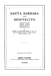 Santa Barbara and Montecito: Past and Present
