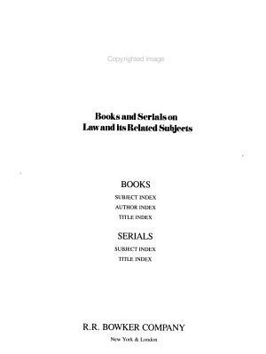 Law Books  1876 1981 PDF