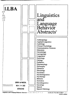 Language And Language Behavior Abstracts