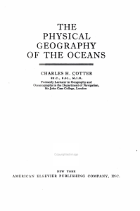 The Physical Geography of the Oceans