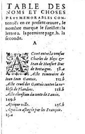 Recueil diligent et profitable auquel sont contenuz les choses plus notables à remarquer de toute l'histoire de Jean Froissart