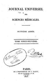 Journal universel des sciences médicales: Volume29