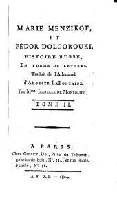 Marie Menzikof et Fédor Dolgorouki: Volume2