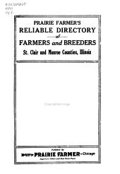 Prairie Farmer s Reliable Directory of Farmers and Breeders of St  Clair and Monroe Counties  Illinois PDF