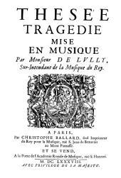 Thésée: tragédie mise en musique