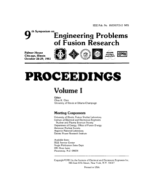 Proceedings of the Symposium on Engineering Problems of Fusion Research Held at Chicago  October 26 29  1981 PDF