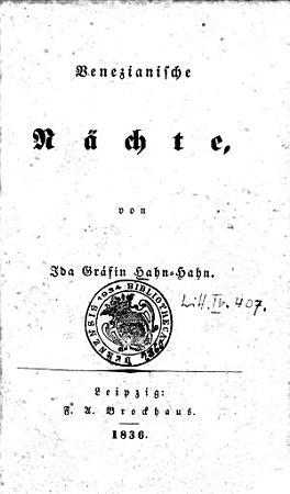 Venezianische N  chte PDF
