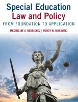 Special Education Law and Policy PDF