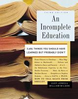 An Incomplete Education PDF