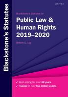 Blackstone s Statutes on Public Law and Human Rights 2019 2020 PDF