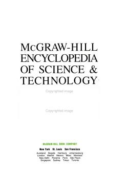 McGraw Hill Encyclopedia of Science   Technology PDF