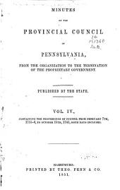 Colonial Records of Pennsylvania: Volume 4