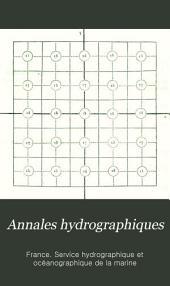 Annales hydrographiques: 5 ème Série