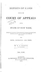 Reports of Cases Decided in the Court of Appeals of the State of New York: Volume 69