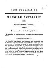 Cour de cassation: mémoire ampliatif pour le sieur Vandermeere, demandeur, contre les sieurs et dames de Beeckman, ...