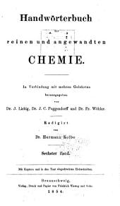 Handwörterbuch Der Reinen und Angewandten Chemie ...