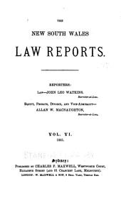 The New South Wales Law Reports, 1880-1900: Volume 6