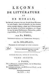 Leçons de littérature et de morale: Volume2