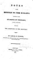 Notes on the Epistle to the Romans PDF